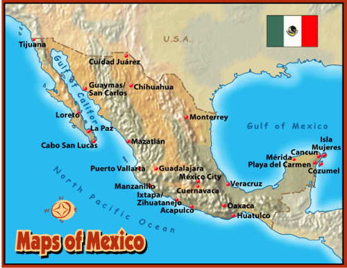 Map of Riviera Maya MexicoMap of Hotels in Playa del Carmen
