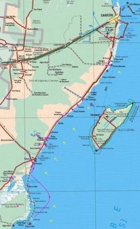 Map Of Riviera Maya Mexico Map Of Hotels In Playa Del Carmen